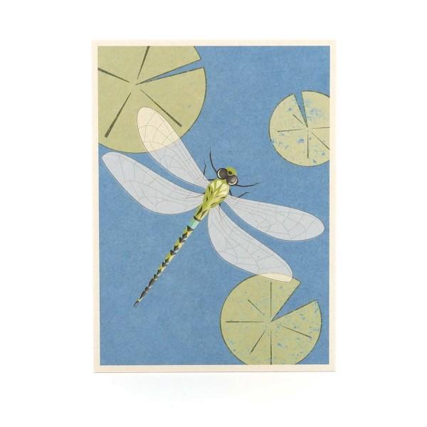 "Postkarte ""Libelle"" online kaufen - Illustrierte Grußkarte Misuki"