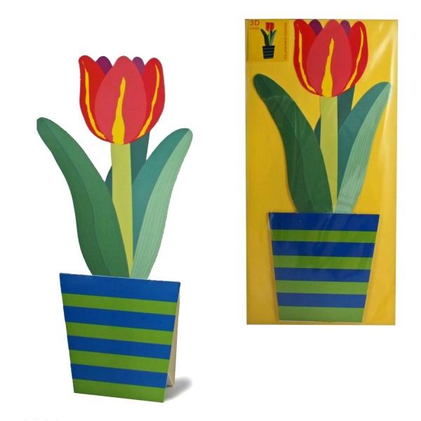 3D-Blumenkarte Tulpe