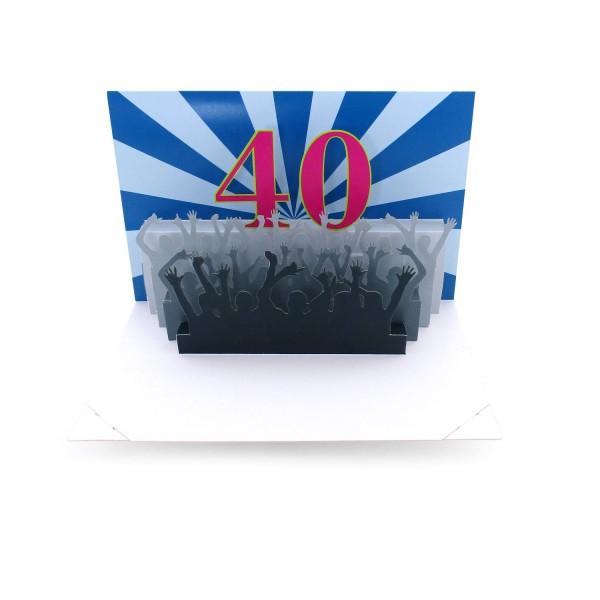 Pop-up-Karte 40. Geburtstag