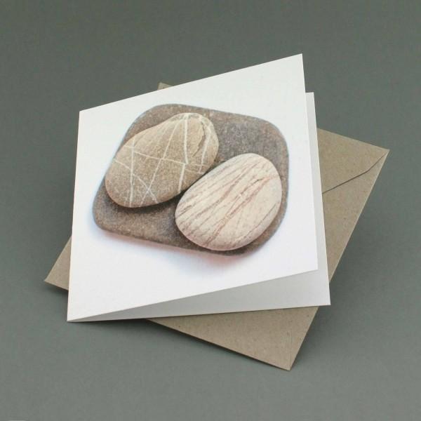 Klappkarte Stein auf Stein