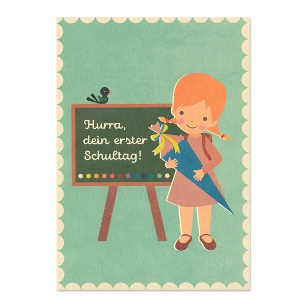 """Postkarte """"Erster Schultag Mädchen"""" / Einschulung kaufen"""