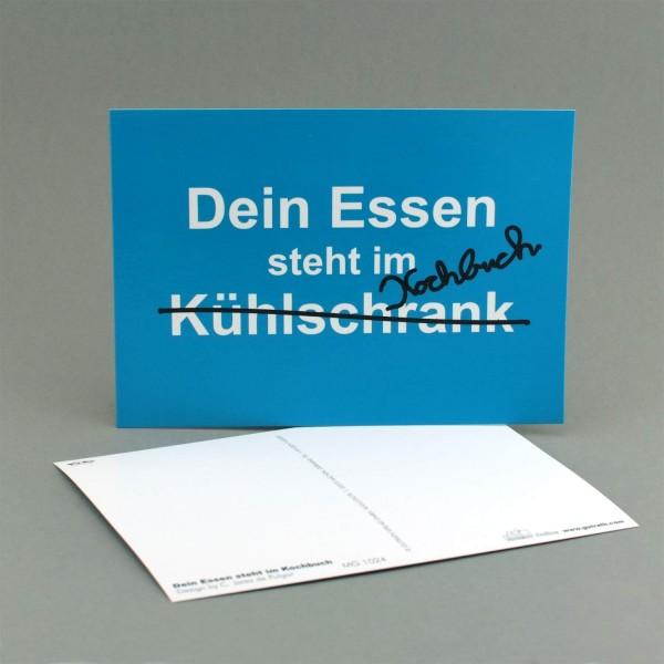 """Postkarte """"Dein Essen steht im Kochbuch"""""""
