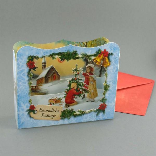 Besinnliche Festtage – Pop up Karte / Diorama Weihnachtskarte