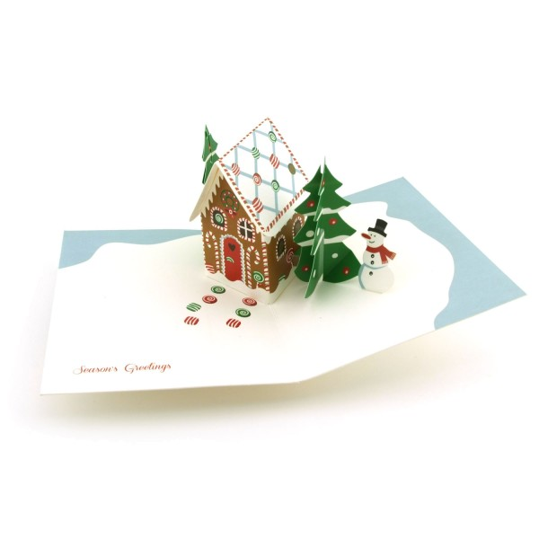 "Pop-up-Karte ""Gingerbread Cabin"""