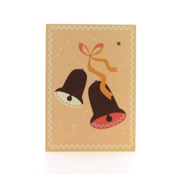 Postkarte Weihnachtsglocken