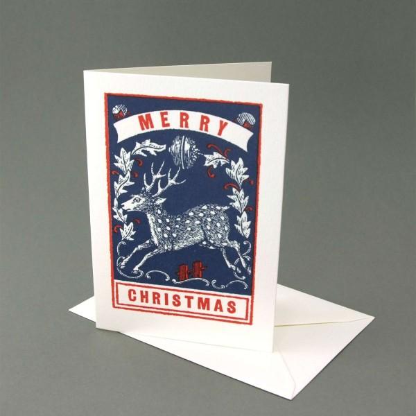 Klappkarte / Letterpresskarte Hirsch