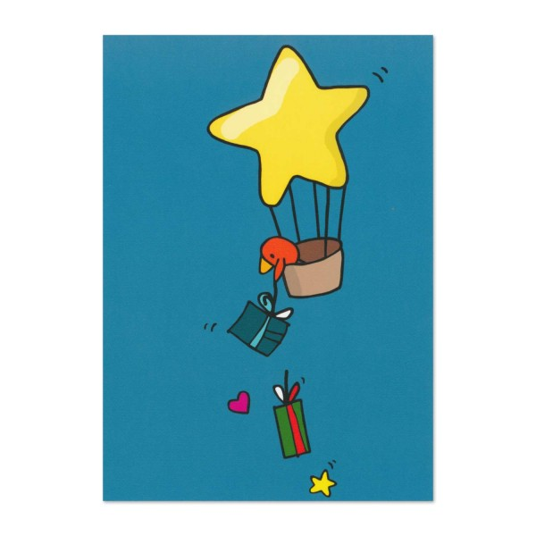 Postkarte Norbert als Ballonfahrer