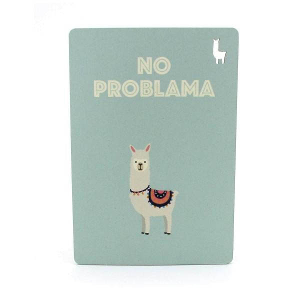 Postkarte No Problama mit Lama