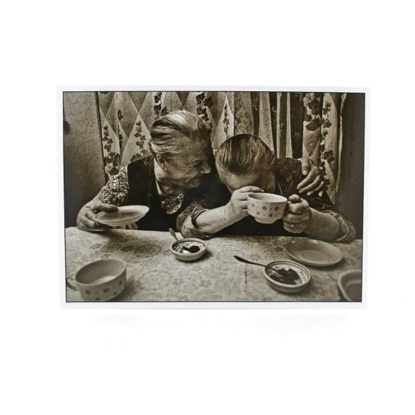 Postkarte Lustiges Kaffeetrinken