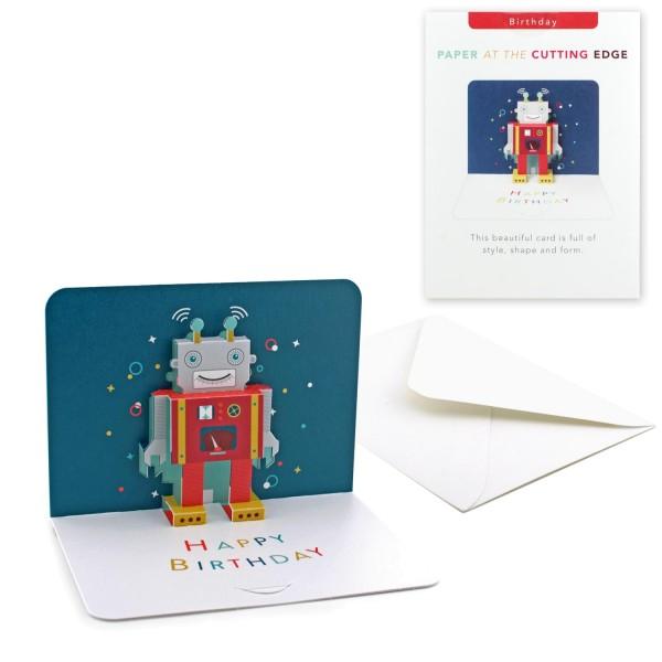 "Pop-up-Karte ""Roboter"""