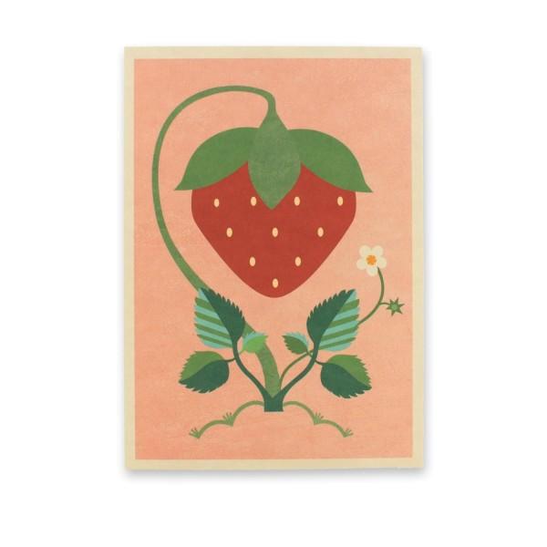 Postkarte Erdbeere