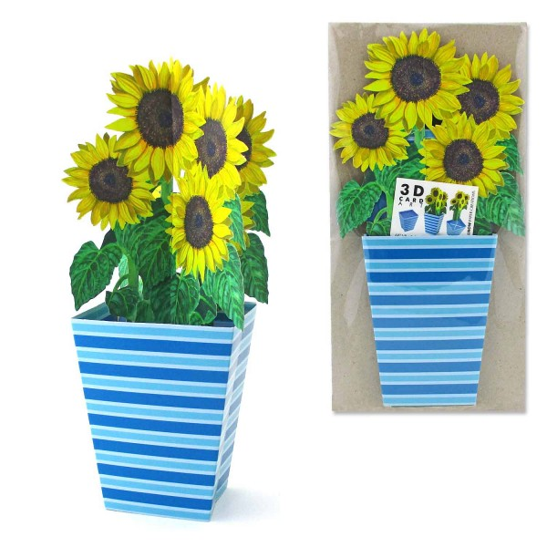 3D Blumenkarte Sonnenblumen