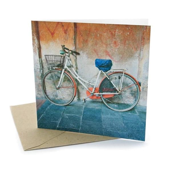 Klappkarte Fahrrad- Grusskarte