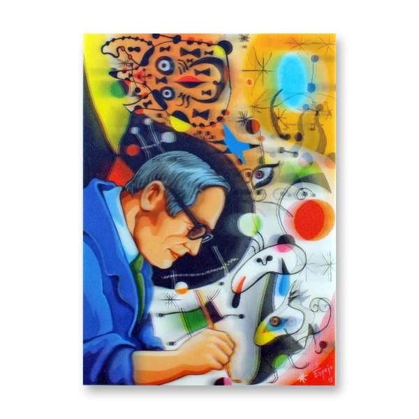 Postkarte/ 3D-Hologrammkarte Kandinsky