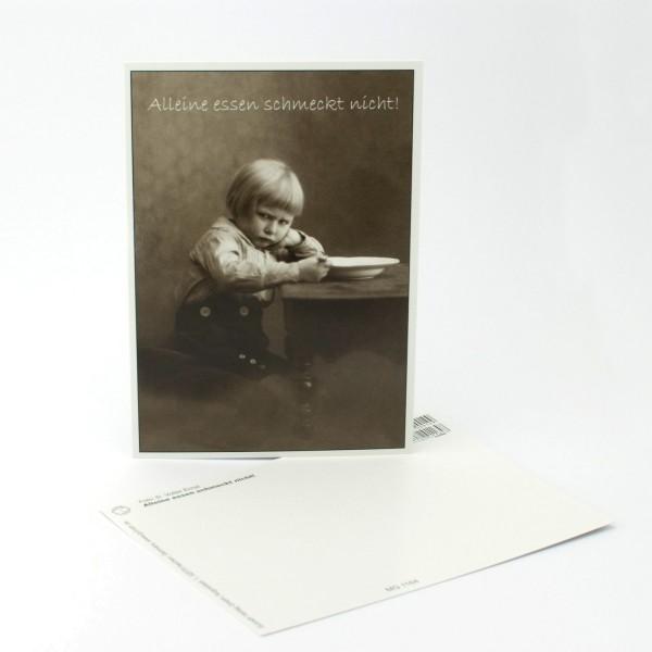"""Postkarte """"Alleine essen schmeckt nicht"""""""