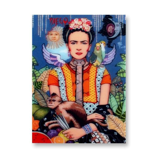 Postkarte/ 3D-Hologrammkarte Frida Kahlo