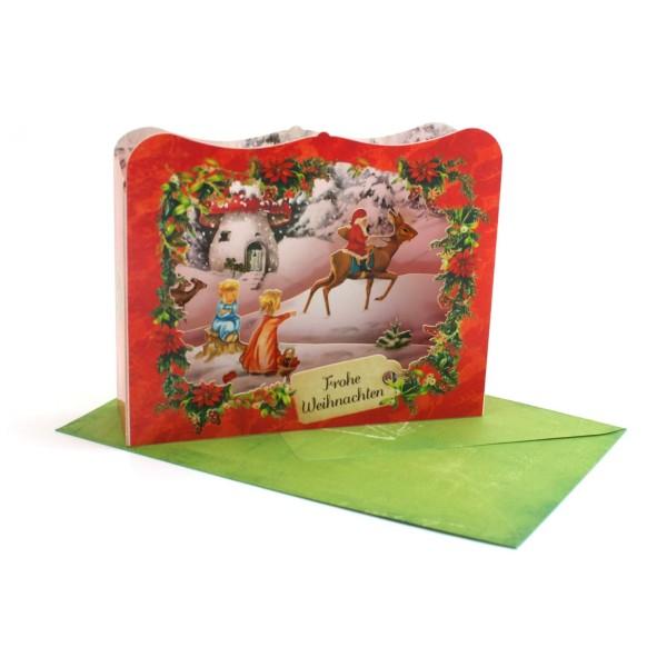 Frohe Weihnachten– Pop up Karte / Diorama Weihnachtskarte-Copy