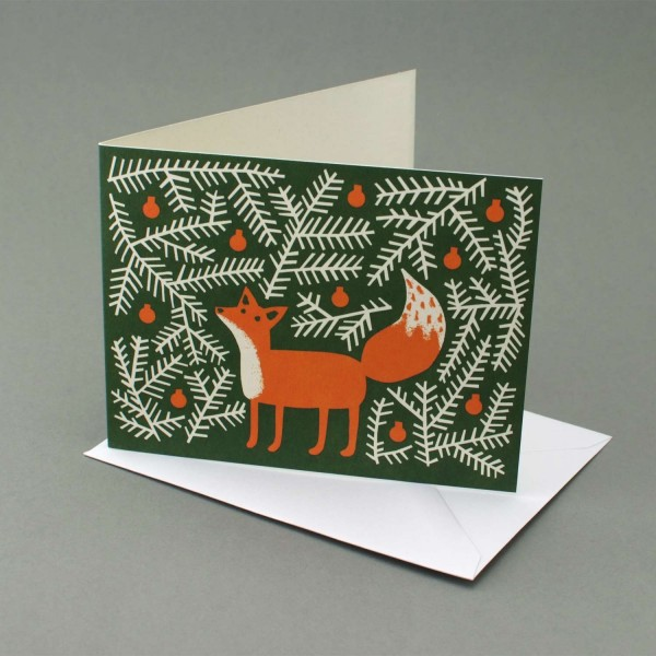 Weihnachtskarte Fuchs