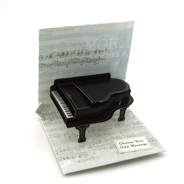 Pop-up-Karte Piano / Klavier