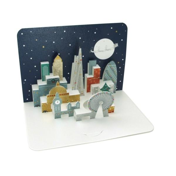 """Pop-up-Karte """"Weihnachtliches London"""", 3D-Weihnachtskarte"""