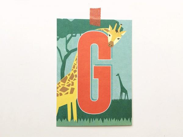 Buchstabenkarte G