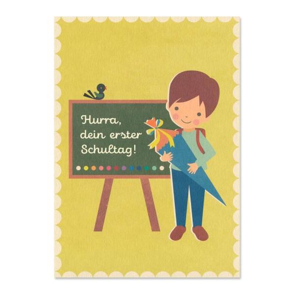 """Postkarte """"Erster Schultag"""" Jungen kaufen / Einschulung"""