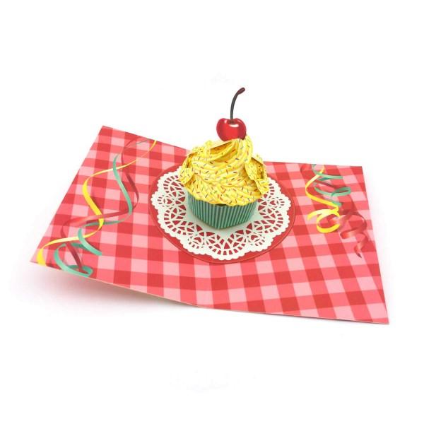 Pop-up-Karte Cupcake