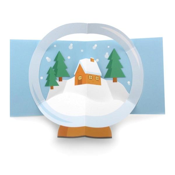 Pop-up-Karte Weihnachtshaus