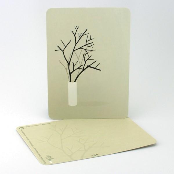 Postkarte Vase mit Zweigen