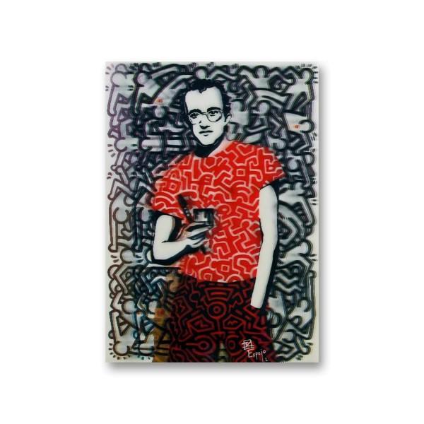 Postkarte/ 3D-Hologrammkarte Keith Haring