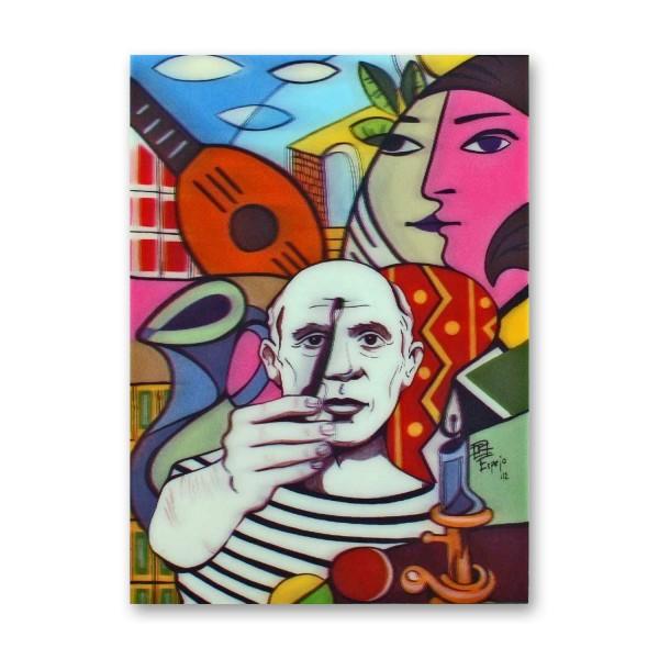 Postkarte/ 3D-Hologrammkarte Picasso