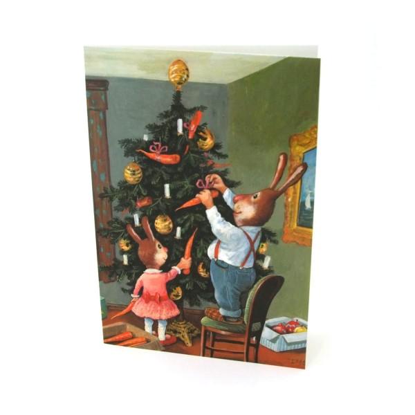 Weihnachtskarte Weihnachtshasen