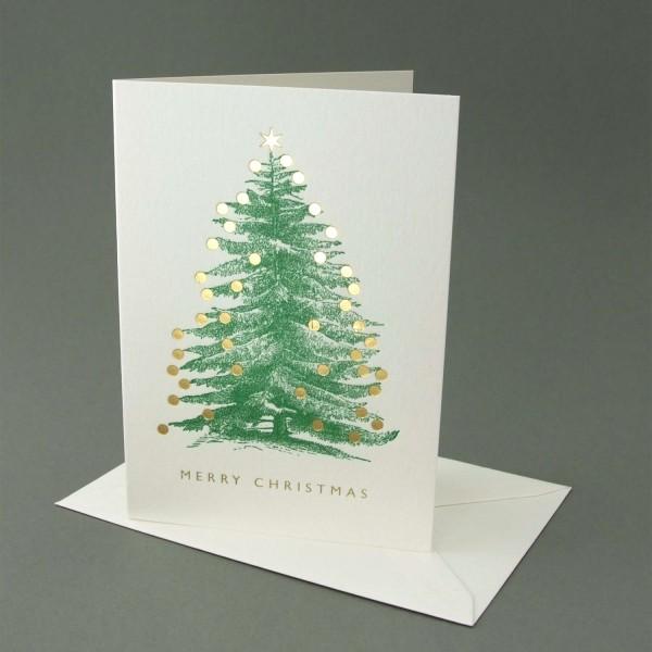 Kleine Klappkarte Weihnachtsbaum