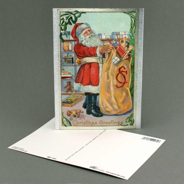 Postkarte Nikolaus mi Geschenken