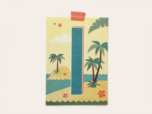 Buchstabenkarte I