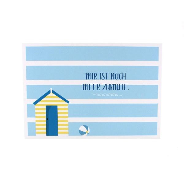 Postkarte Mir ist nach Meer zumute