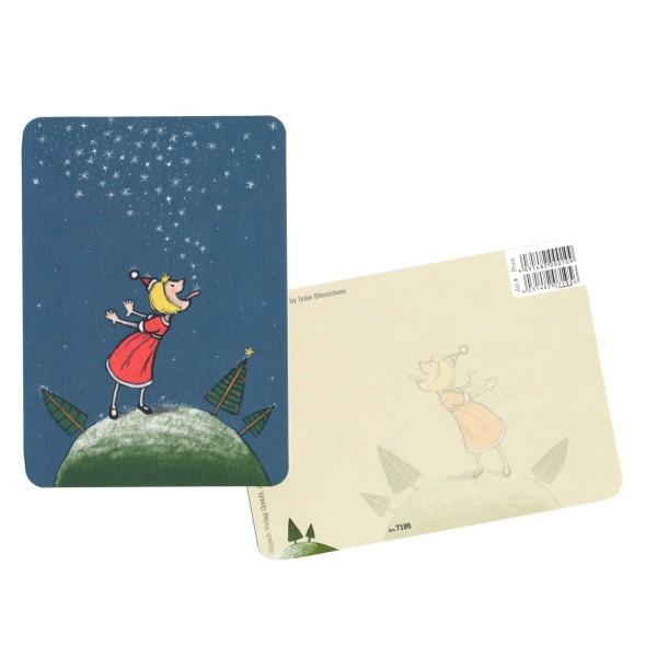 Weihnachtskarte Sternenfängerin