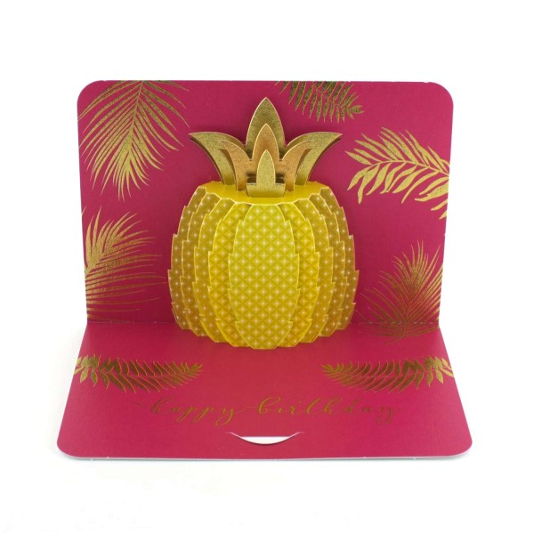 "Pop-up-Karte ""Goldene Ananas"""