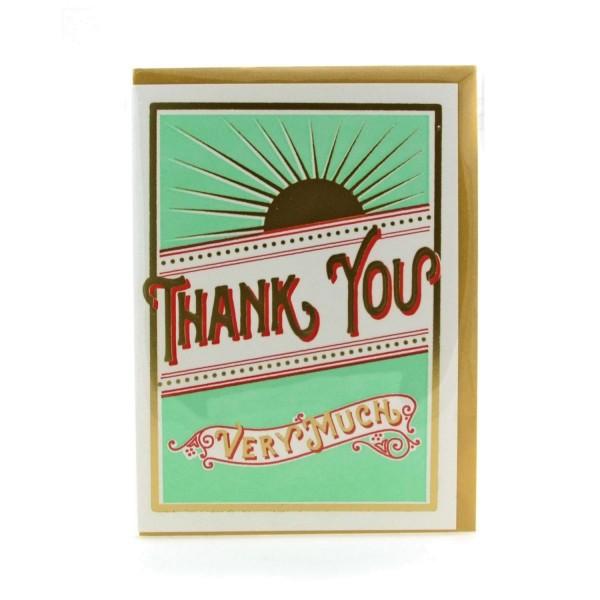Klappkarte Letterpresskarte Thank you