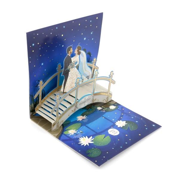 Hochzeitskarte-Popupkarte