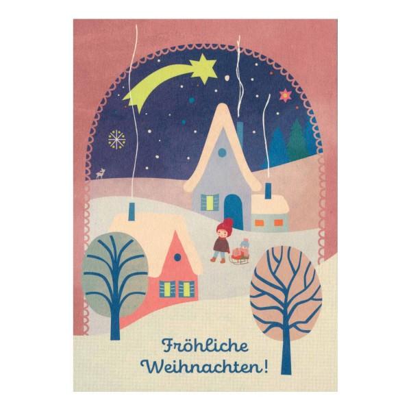 Postkarte Fröhliche Weihnachten