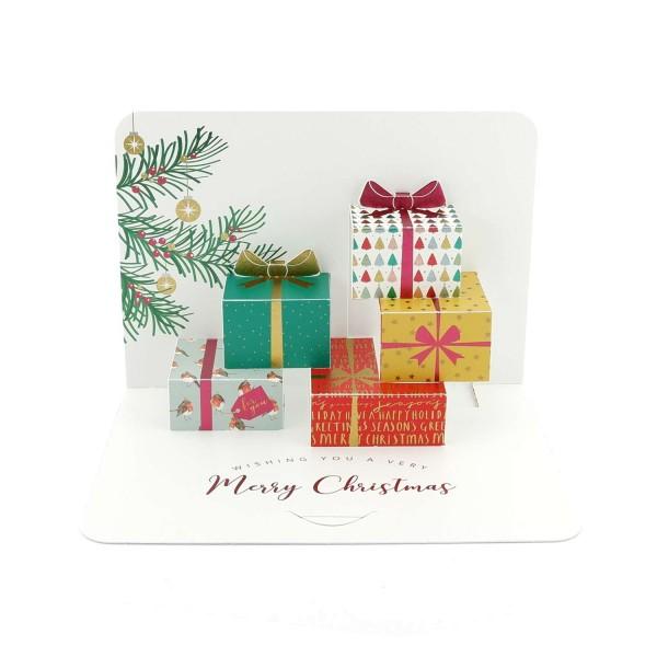 """Pop-up-Karte """"Weihnachtsgeschenke""""-Weihnachtskarte"""