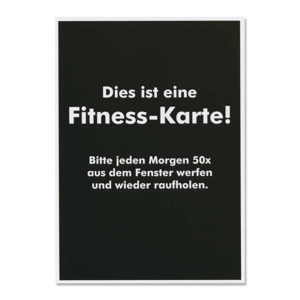 """Postkarte """"Fitnesskarte"""""""