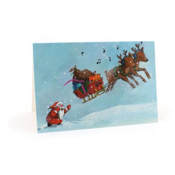 Weihnachtskarte Halt!