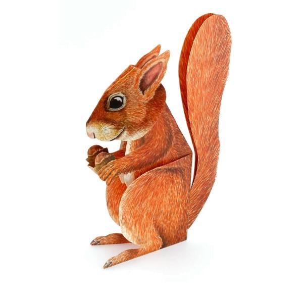 """Dreidimensionale Grußkarte """"Eichhörnchen"""""""