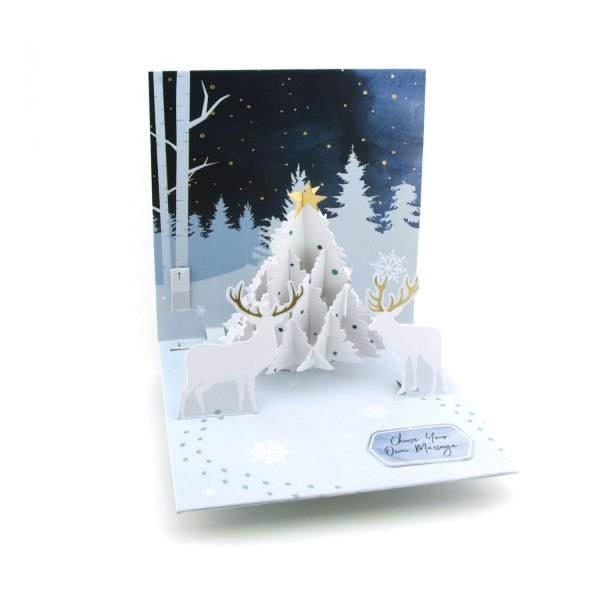 Pop up Karte Weihnachtswald