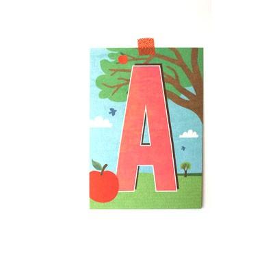 Buchstaben-Postkarte A