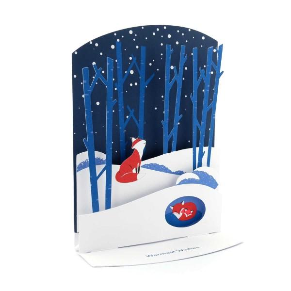 """Weihnachtskarte """"Füchse im Winter"""""""