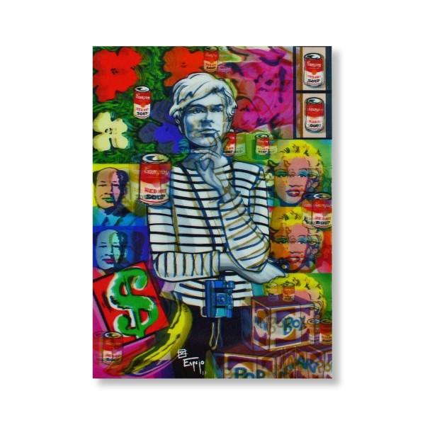 Postkarte/ 3D-Hologrammkarte Andy Warhol