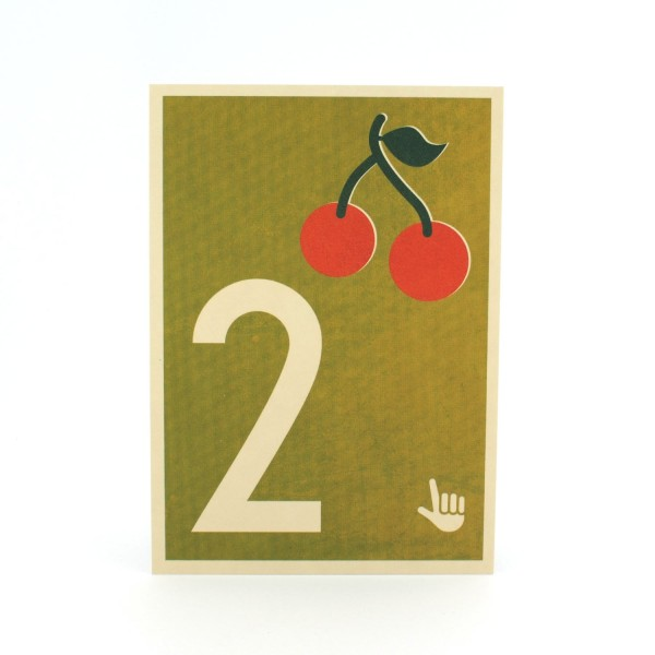 Zahlen-Postkarte 2
